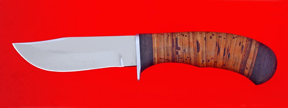 """Охотничий нож """"Филин"""", клинок сталь 95Х18, рукоять береста"""