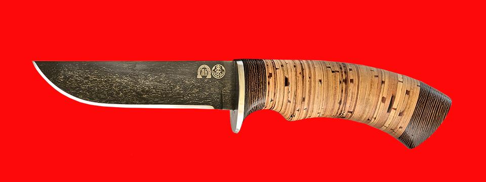 "Нож ""Грибник-2"", клинок тигельный булат, рукоять береста"