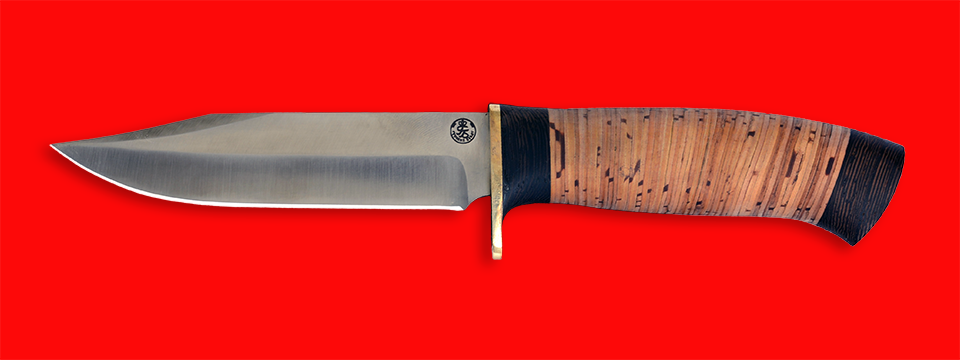 """Нож """"Гюрза"""", клинок порошковая сталь Vanadis 10, рукоять береста"""