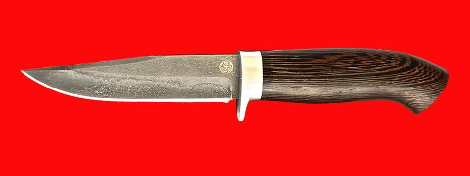 """Нож """"Сокол"""", клинок тигельный булат, рукоять венге"""