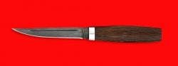 """Нож """"Финка"""", клинок дамасская сталь, рукоять венге"""