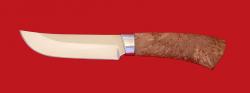 """Охотничий нож """"Куница"""", клинок сталь 65Х13, рукоять карельская берёза"""