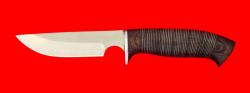 "Охотничий нож ""Медведь"", клинок сталь 65Х13, рукоять кожа"