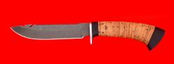 """Нож """"Рыбацкий-2"""", клинок сталь D2, рукоять береста"""