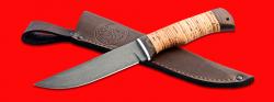"""Нож """"Селигер"""", клинок сталь Х12МФ, рукоять береста, с отверстием под темляк (ремешок)"""