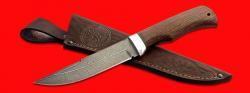 """Нож """"Селигер"""", клинок дамасская сталь, рукоять венге, с отверстием под темляк (ремешок)"""