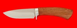 """Охотничий нож """"Соболь-2"""", клинок сталь 65Х13, рукоять дуб"""
