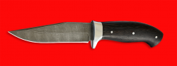 """Нож """"Сокол"""", цельнометаллический, клинок дамасская сталь, рукоять венге"""