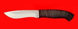 """Охотничий нож """"Вальдшнеп"""", клинок сталь 65Х13, рукоять кожа"""