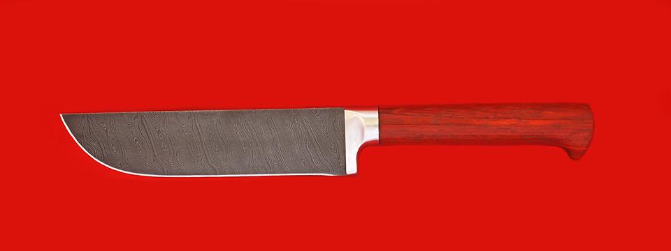 """Нож """"Узбекский"""", клинок дамасская сталь, рукоять падук"""